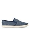 Blauwe canvas loafers met gewoven touwzool