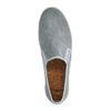 Grijze canvas loafers met gewoven touwzool