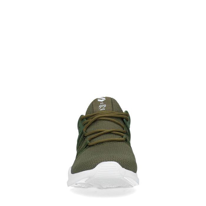 Groene lage sneakers