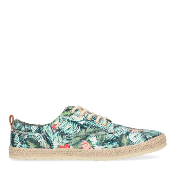 Lage sneakers met bloemenprint