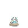 Witte canvas veterschoenen met jungleprint