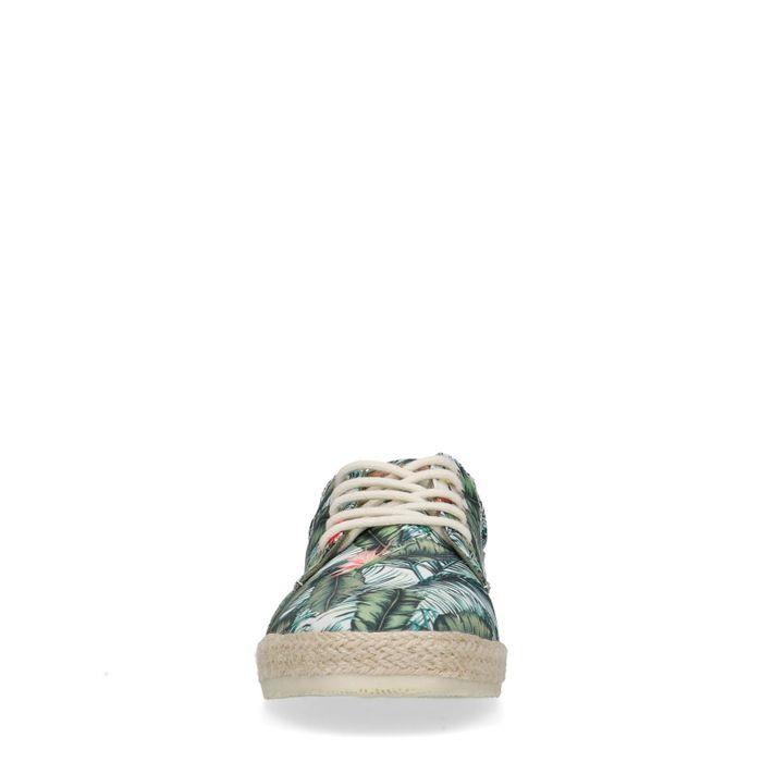 Veterschoenen met tropische print