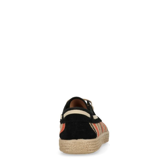 Rieten lage sneakers met touwzool