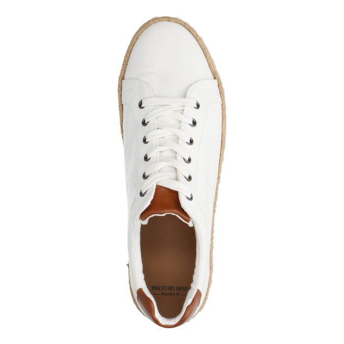 Witte veterschoenen van canvas