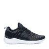 Zwart met grijze lage sneakers