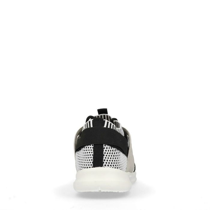 Lage sneakers zwart/wit/grijs