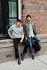 Sacha x Matt G Style dunkelblaue Chelsea Boots