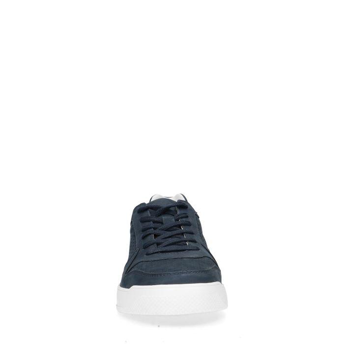 Dunkelblaue Ledersneaker