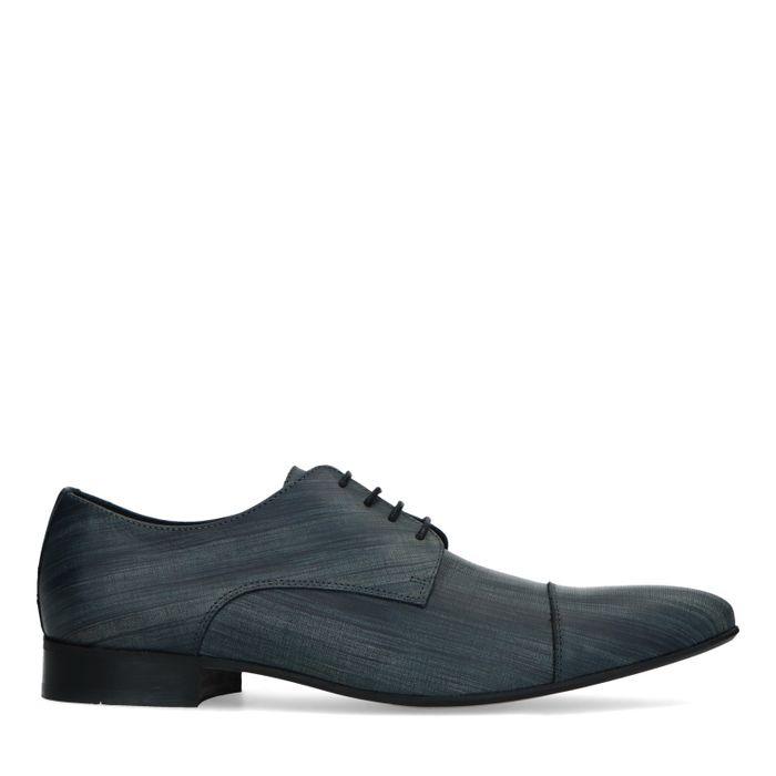 Blaue Schnürschuhe mit Print
