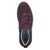 Dunkelrote Sneaker mit hohem Schaft