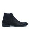 Chelsea Boots aus schwarzem Leder