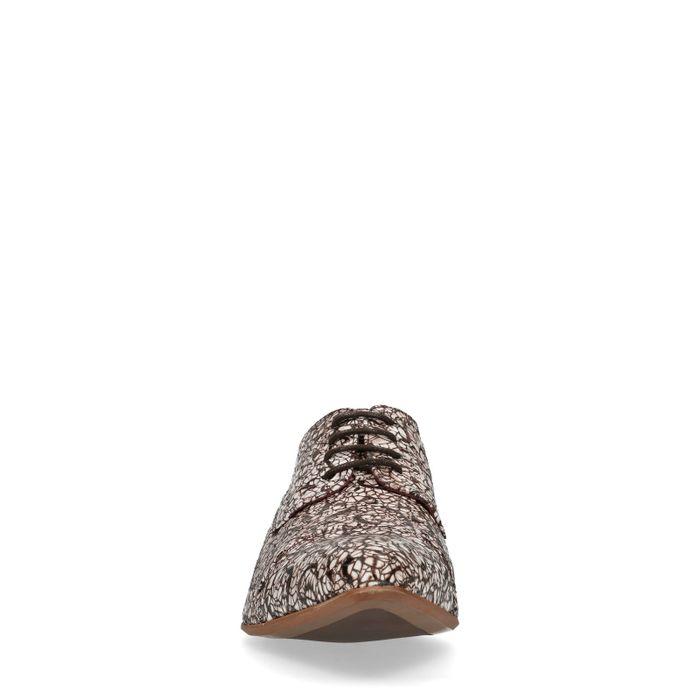 Braune Schnürschuhe mit Print
