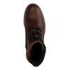 Braune Schnürstiefel mit hohem Schaft