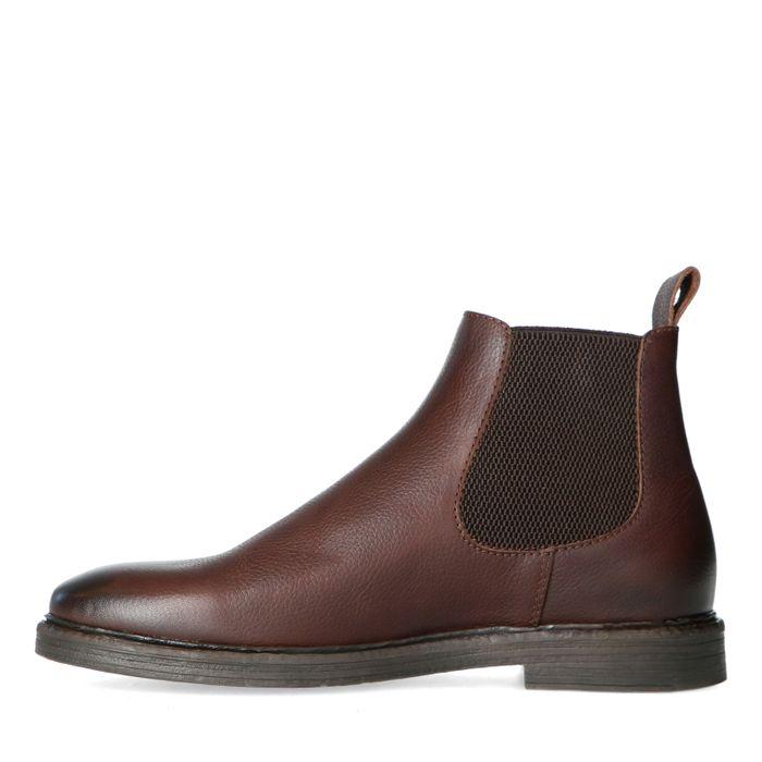 Braune Chelsea Boots aus Leder