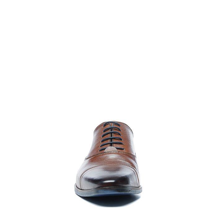 Cognacfarbene Lederschnürschuhe