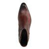 Cognacfarbene Boots mit Schlangenmuster