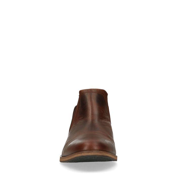 Chelsea Boots aus braunem Leder
