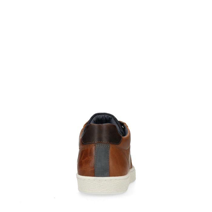 Braune Lederschnürschuhe
