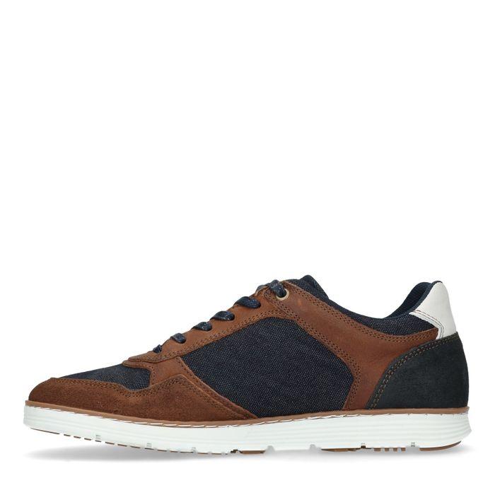 Blaue Denim-Sneaker