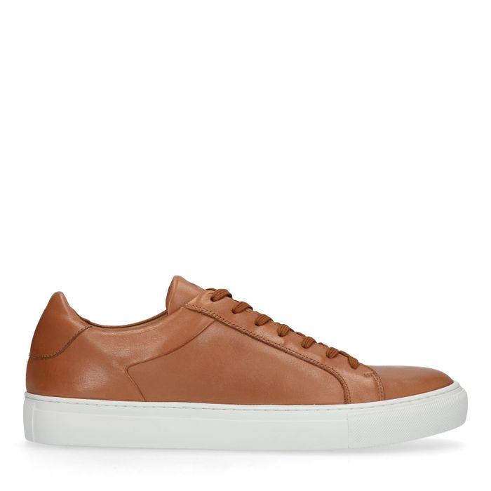 Braune Leder-Sneaker