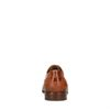 Cognacfarbene Lederschnürschuhe mit Muster