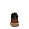 Cognacfarbene Ledersneaker mit hohem Schaft