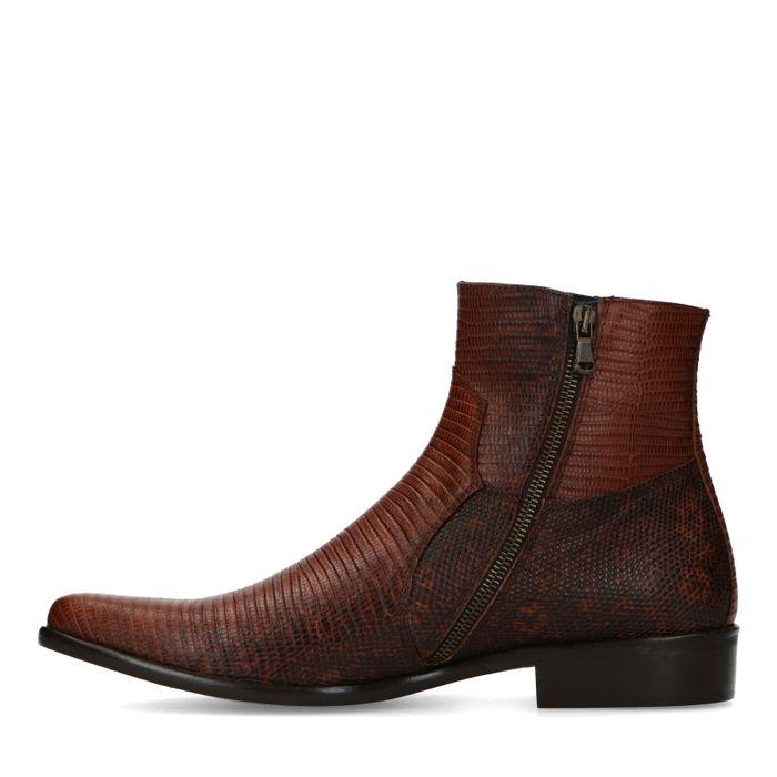 Braune Western Boots mit Schlangenmuster
