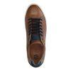 Cognacfarbene Ledersneaker