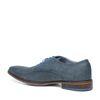 Derby-Schnürschuhe mit Eidechsenmuster blau