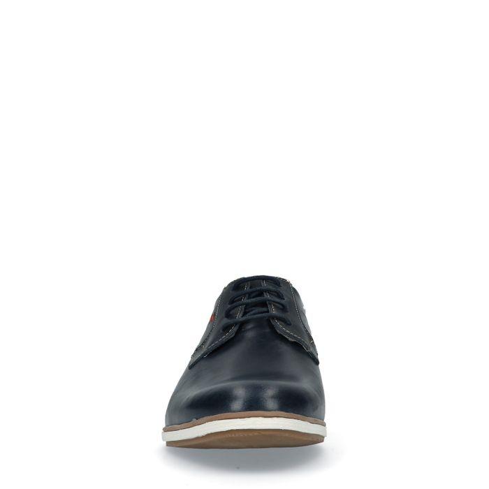 Dunkelblaue Leder-Schnürschuhe