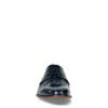 Dunkelblaue Leder-Schnürschuhe mit Print