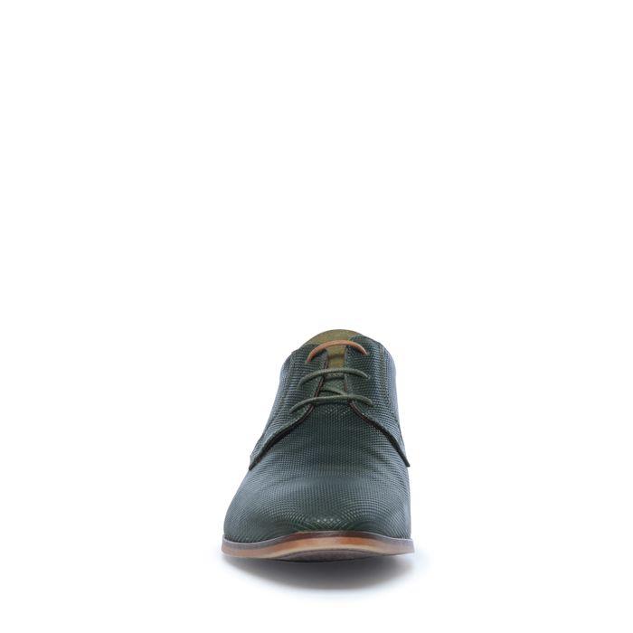 Dunkelgrüne Schnürschuhe mit Muster