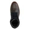 Graue Schnürstiefel aus Leder