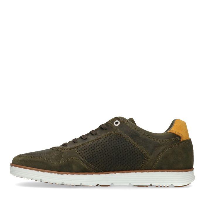 Grüne Leder-Sneaker