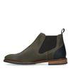 Olivgrüne Chelsea Boots aus Leder