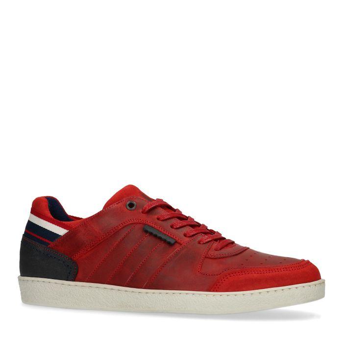 Rote Leder-Sneaker