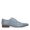 Blaue Schnürschuhe mit Muster