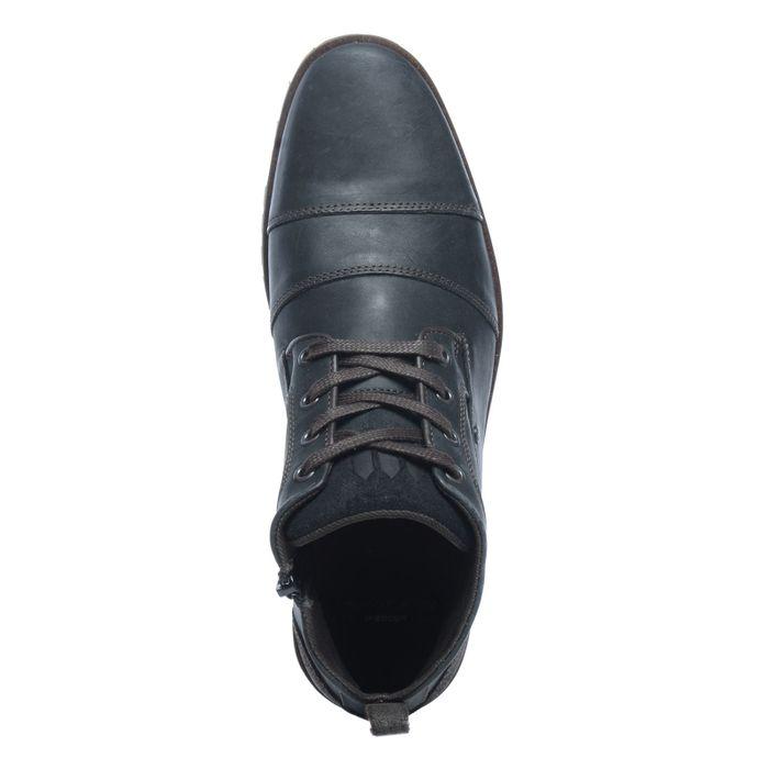 Schwarze Schnürschuhe mit hohem Schaft