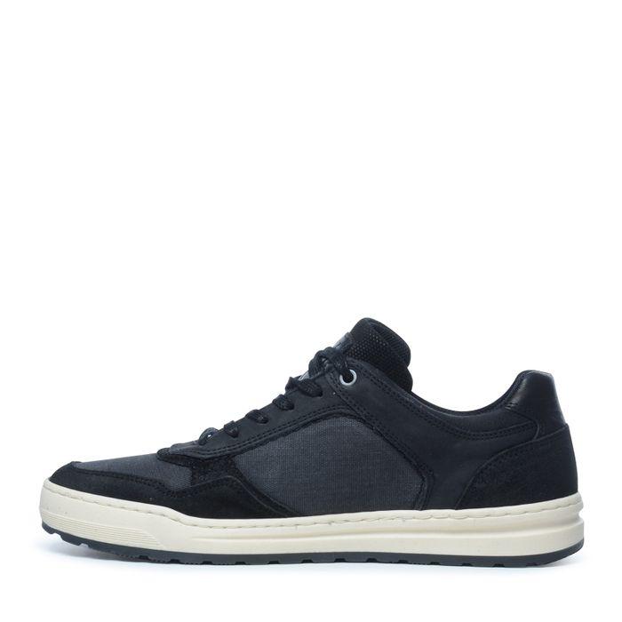 Schwarze Sneaker mit kurzem Schaft