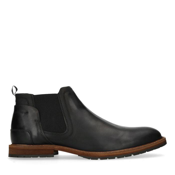 Schwarze Chelsea Boots aus Leder