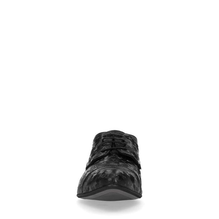 Schwarze Schnürschuhe mit Sternen