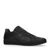 Schwarze Leder-Sneaker