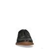Schwarze Leder-Slipper