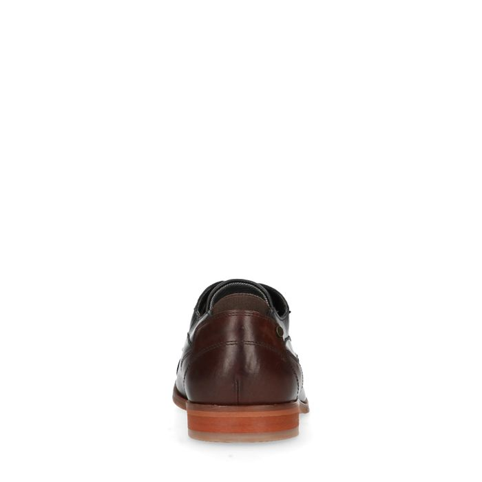 Legere schwarze Lederschnürschuhe