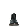 Schwarze Chelsea Boots mit dunkelbrauner Sohle