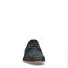 Leder-Schnürschuhe mit Print