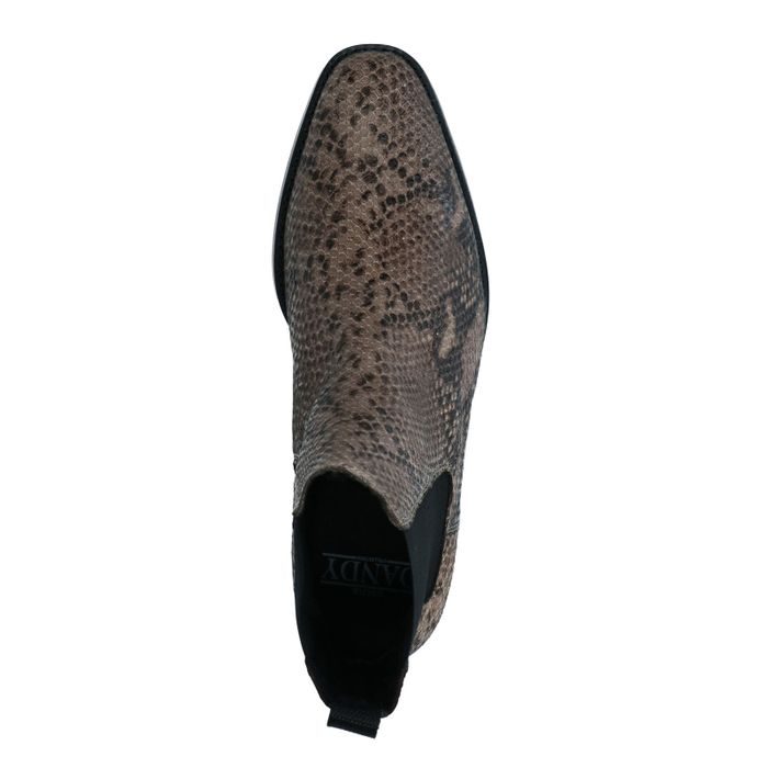 Chelsea Boots mit Schlangenmuster
