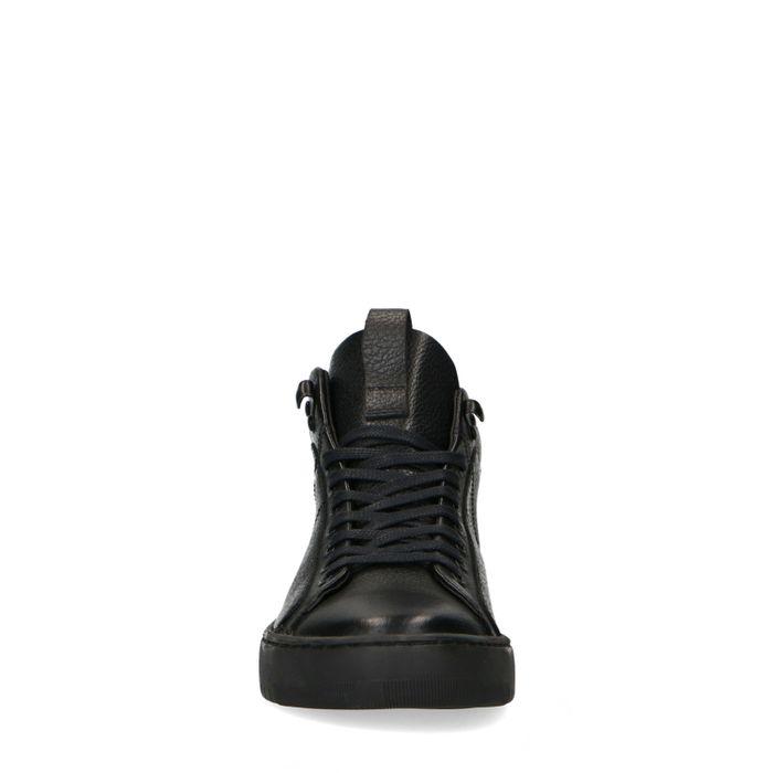 Schwarze Sneaker mit hohem Schaft
