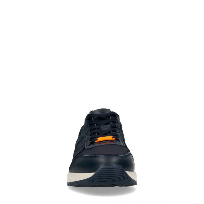 Dunkelblaue Sneaker mit Military-Muster
