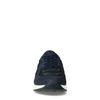 Schwarze Sneaker mit dunkelblauen Details